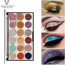 <b>MISS ROSE 18 Colors</b> Shimmer <b>Glitter</b> Eye Shadow Palette <b>Sequin</b> ...