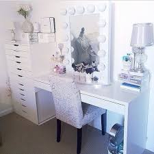 click to see more beauty room designs on our blog for makeup organization and beauty room furniture