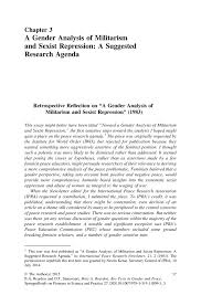 a gender analysis of militarism and sexist repression a suggested betty a reardon key texts in gender and peace