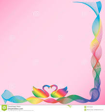 Frame With <b>Swans</b> On A Pink Background Stock Vector - Illustration ...