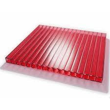 "<b>Поликарбонат сотовый</b> ""<b>Skyglass</b>"" 6 мм Красный (лист 2,1*6м ..."