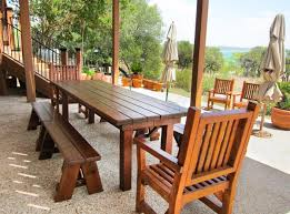 Picnic Table Dining Room Feel Like Dining In Cafac With Dining Room Table With Bench