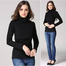 <b>Emotion Moms</b> Turtlenecks Maternity Clothes nursing top T shirt for ...