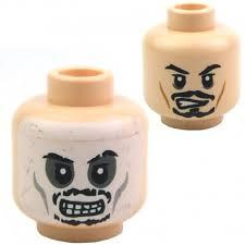<b>Lego</b> Accessories Light Flesh Minifig, <b>Head</b> Dual Sided Black ...