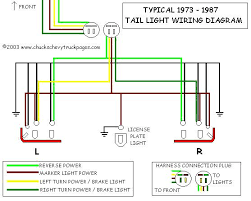 headlight and tail light wiring schematic diagram typical 1973 tail light wiring diagram schematic
