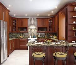 shaped kitchen island interior