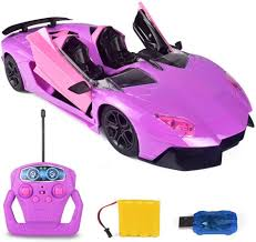 Girl Pink <b>Rc Remote Control</b> 2.4g Hobby Car Emote Car Off-road ...