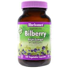 <b>Standardized Bilberry Fruit Extract</b>, 120 Vegetable Capsules | www ...