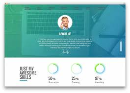 best vcard wordpress themes for your online resume   colorlibpersonage   flat design theme