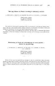 biochemistry of blood and electrophoresis of serum proteins first page of the article