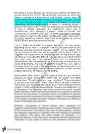 hsc english esl belonging essay  yearhsc  english as a