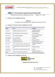 venture capital annual ranking