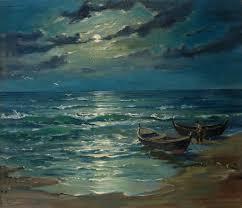<b>Sailboat</b> in the Moonlight - Česlovas Janušas — Google Arts & Culture