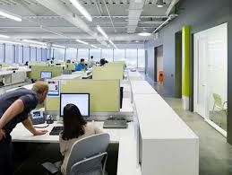 open plan offices and interior office on pinterest awesome open office plan coordinated