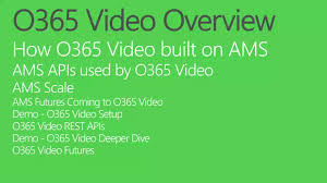 office 365 video and custom solutions built on azure media services build office video