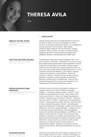 adjunct faculty online resume samples online resume samples
