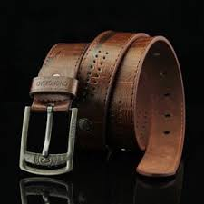 New Mens Leather Single Prong Belt Business Casual Dress ... - Vova