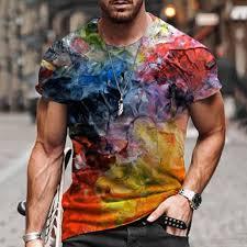 Spring And <b>Summer Men's</b> Casual <b>Fashion Short</b>-<b>sleeved</b> Printed ...
