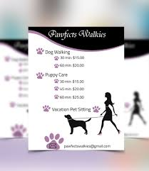 design a flyer for dog walking company lancer 7 for design a flyer for dog walking company by graphichat