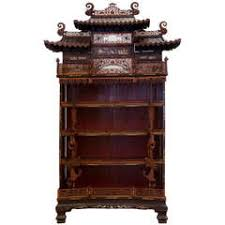 rare and beautiful architectural pagode display cabinet china 19th century antique furniture apothecary
