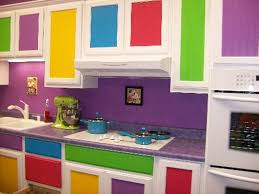 kitchen colors images: colorful kitchen cabinet with modern design