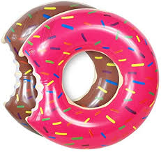 UClever 2 Pcs <b>Inflatable</b> Donut Pool Float Swimming Ring <b>70CM</b> for ...