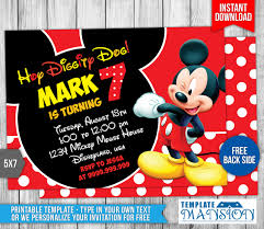 mickey mouse birthday invitation 4 by templatemansion on mickey mouse birthday invitation 4 by templatemansion