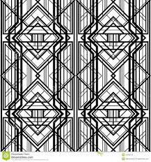 abstract geometric pattern art deco furniture lines
