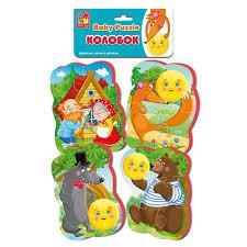 "<b>Мягкие пазлы Baby puzzle</b> Vladi Toys Сказки ""Колобок"" NEW ..."