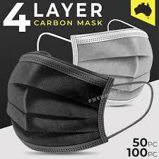 4-Layer <b>Disposable Face Mask</b> Black - <b>50</b>/<b>100pcs</b> - eBay