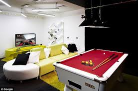playtime google workers are treated to a pool table and games consoles belgrave house google london office