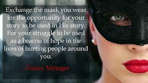christians wearing masks, Tracey Metzger, quote | daughter by design via Relatably.com