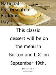 National Butterscotch Pudding Day | Dining Services | Carleton ...