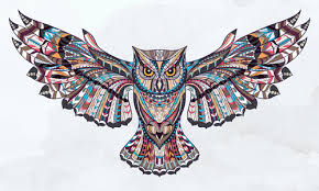 <b>Owl ethnic</b> pattern vector free download