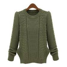 <b>Stylish Round Neck Long</b> Sleeve Solid Color Furcal Women s ...