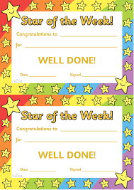 twinkl resources >> star of the week >> thousands of printable star students