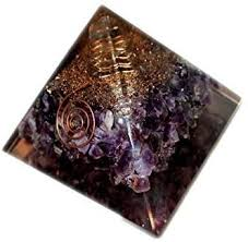 <b>Top Quality Exquisite</b> A++ Amethyst Orgone Pyramid Booklet Jet ...