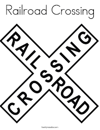 railroad crossing_coloring_page?ctok=20120819173532 traffic signs and signals coloring pages twisty noodle on signs please walk printable