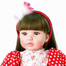 pursue 24 60 cm black straight hair baby alive silicone doll reborn toddler princess girl dolls for girls christmas gift