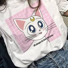 <b>Sailor Moon Аниме футболка</b>, Топ Футболка 90s женская ...