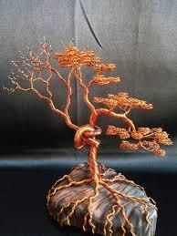 <b>Bonsai</b> wire tree sculpture, Copper wire tree, <b>Home decor</b> ...