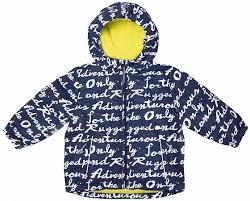 <b>Куртка для мальчика Barkito</b> осенняя синий с рисунком буквы ...