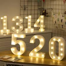 0 1 2 <b>3 4 5 6 7 8</b> 9 Number Night Light Romantic Valentines Prop ...
