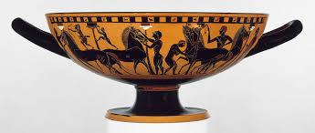 greek art in the archaic period   essay   heilbrunn timeline of    terracotta kylix  drinking cup