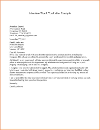 examples of thank you letter for interview thank you letter  examples