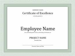 certificates office com certificate of excellence for employee middot powerpoint template certificate of excellence for employee powerpoint
