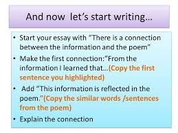 the road not taken review bridging text and context how to find  start your essay with there is a connection between