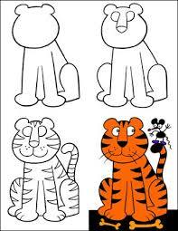 איך לצייר נמר (חתול).