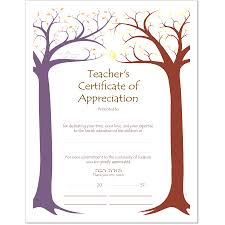 teacher appreciation certificate templates showing gallery it
