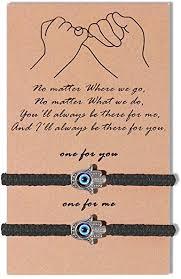 Amazon.com: SUNSH <b>2Pcs</b> Hamsa <b>Hand</b> Evil Eye Bracelets for ...